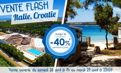 Vente Flash Italie Croatie