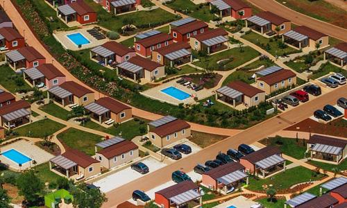 Vue aérienne - les logements