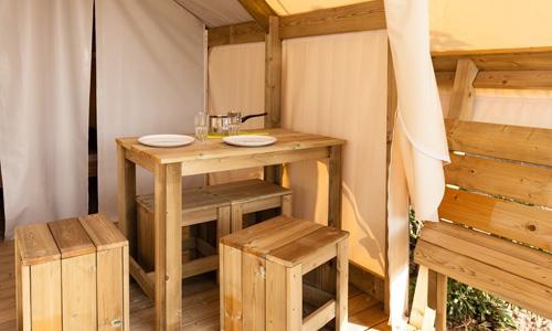 intérieur lodge du camping