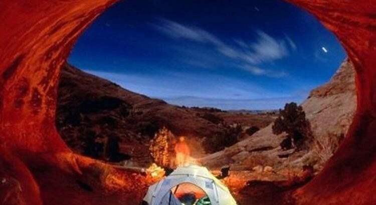 Camping dans une grotte