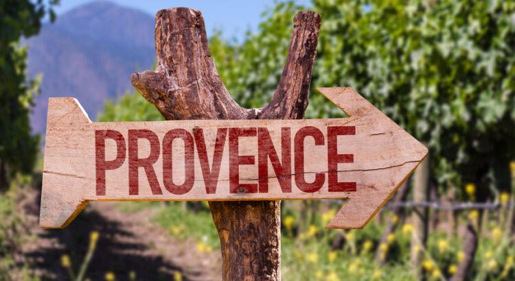 Panneau de direction Provence