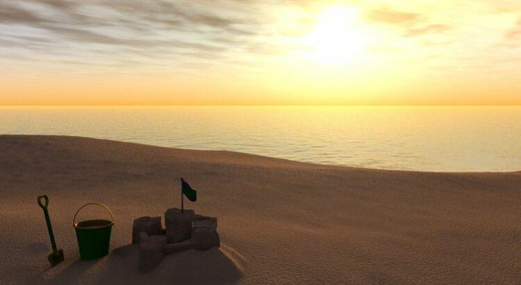 Château de sable plage