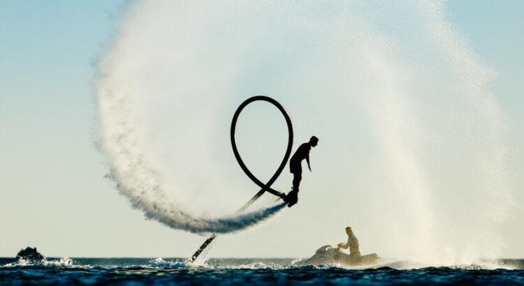 flyboard sur la mer