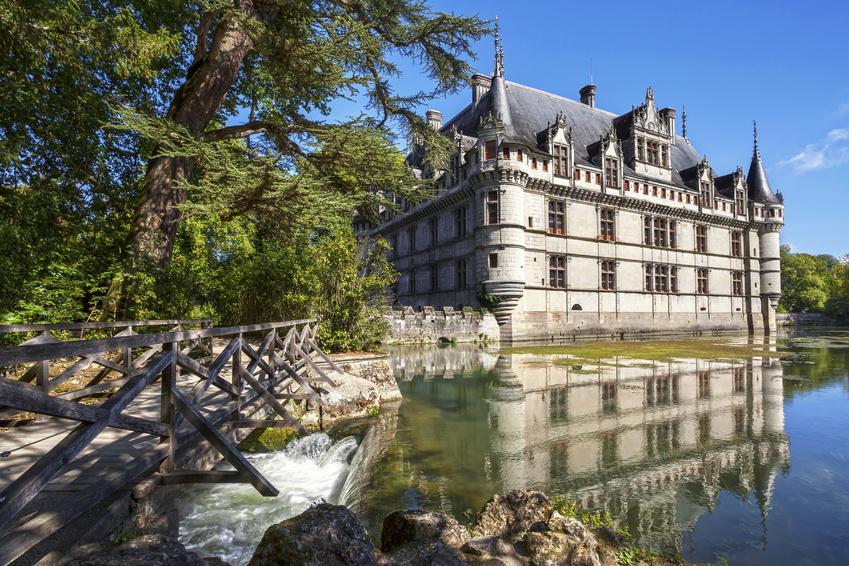 Château de Azay le Rideau dans la Vallée de la Loire