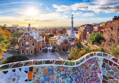 Parc Guell Barcelone, Espagne