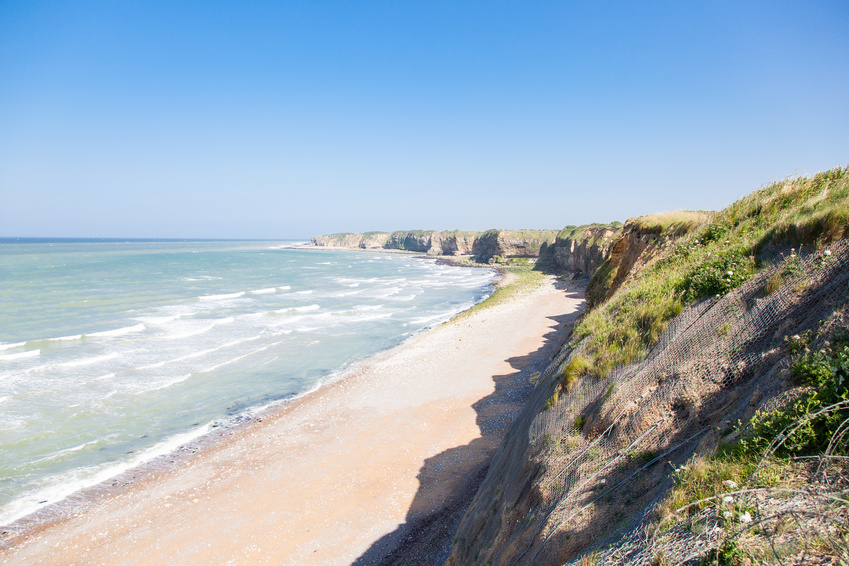 Pointe du Hoc - Vue sur une plage de Normandie