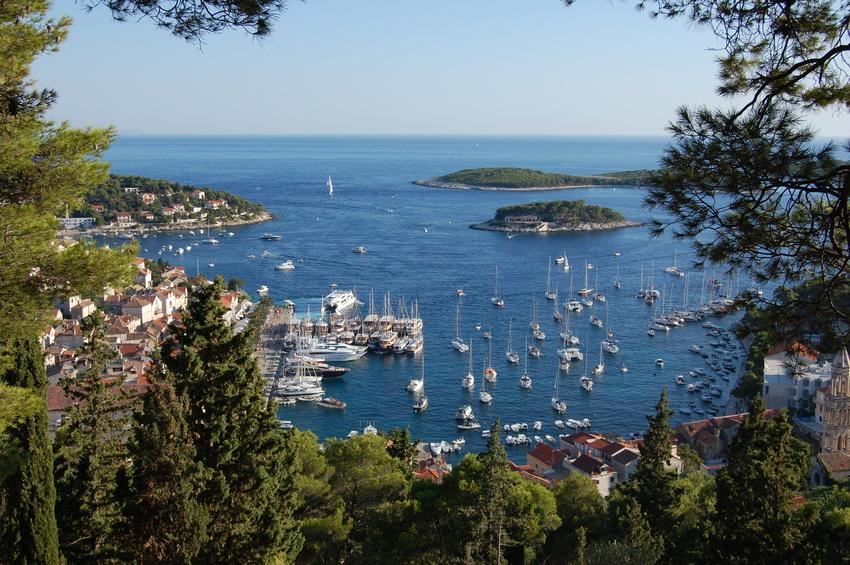 Vue sur Hvar en Croatie