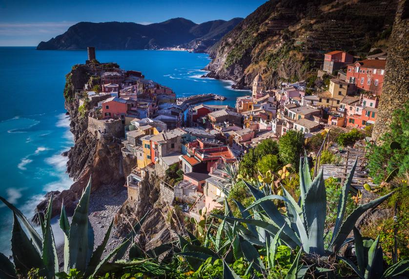Vue sur Vernazza Cinque Terre en Italie