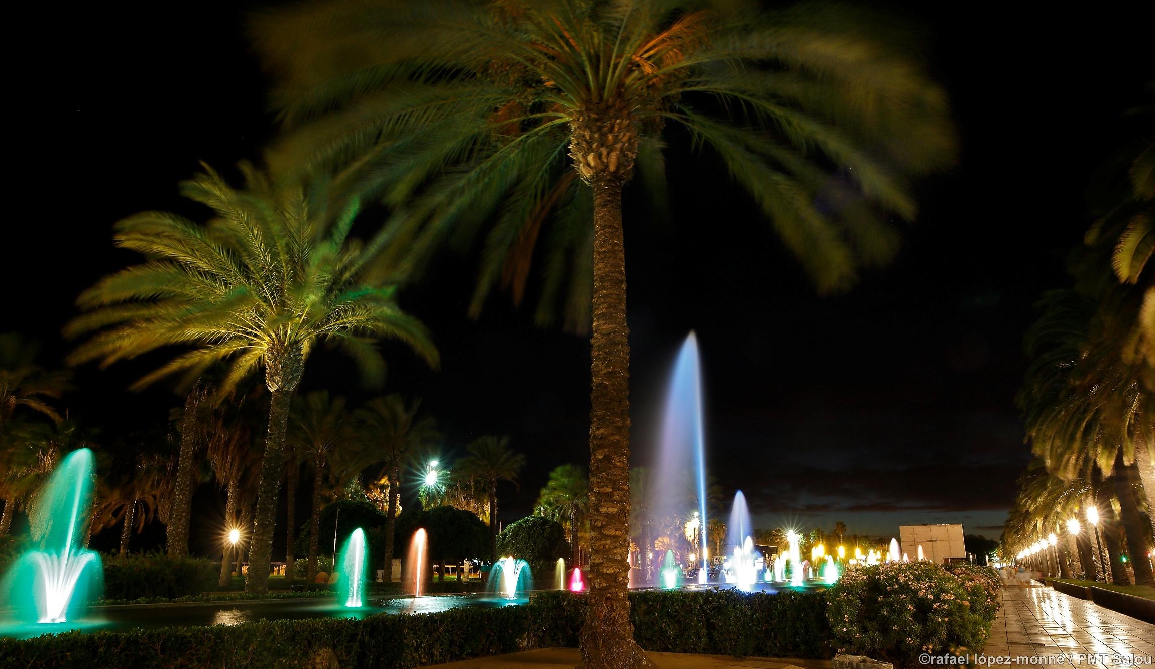 Fontaines lumineuses Salou - © Office de tourisme de Salou