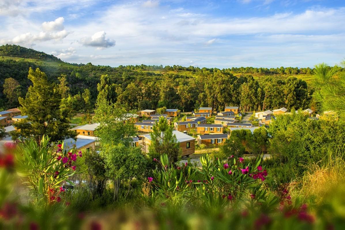 Vue sur le camping Sole di Sari à Solenzara