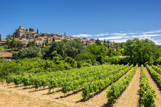 The hill top of village of Ansouis in the Luberon Provence