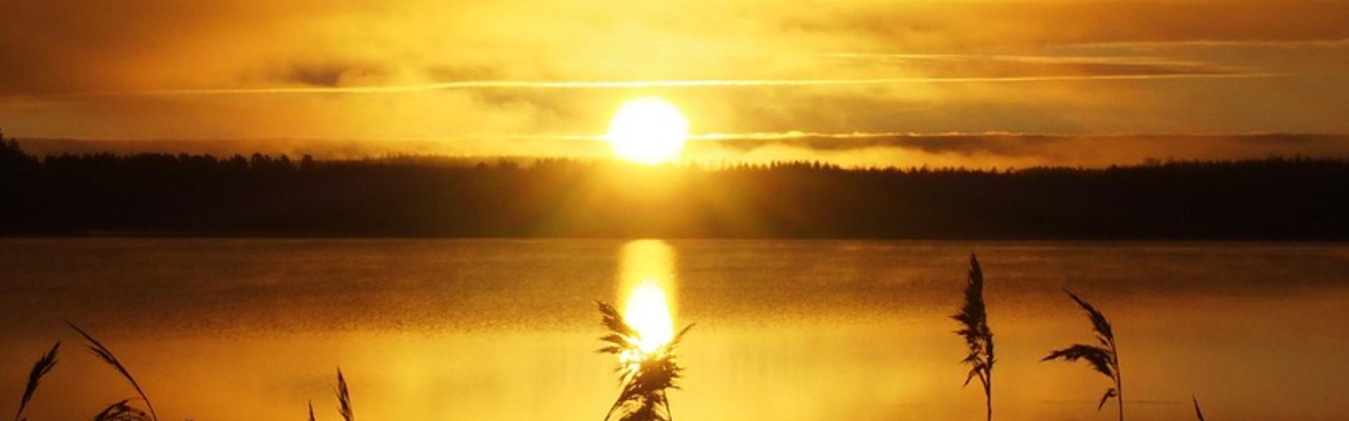 Automne rivière soleil couchant